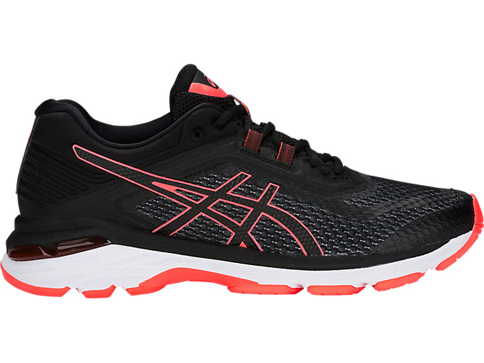 Women's GT-2000 6 (2A) | BLACK/FLASH CORAL | Running | ASICS ...