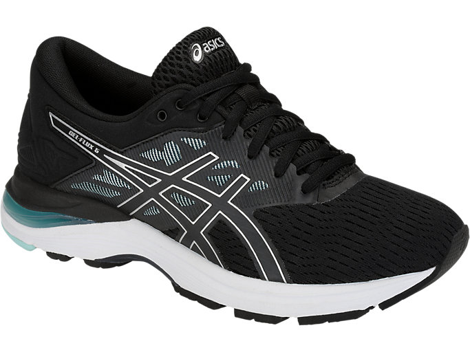 Front Right view of GEL-FLUX 5, BLACK/SILVER