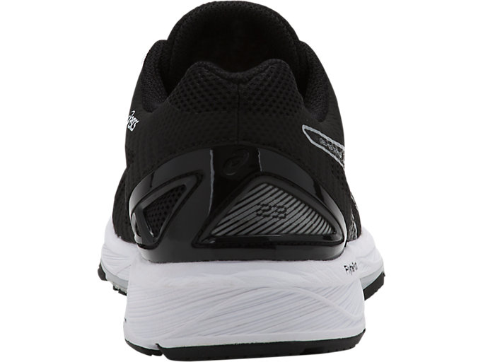 Back view of GEL-DS TRAINER 23, BLACK/SILVER