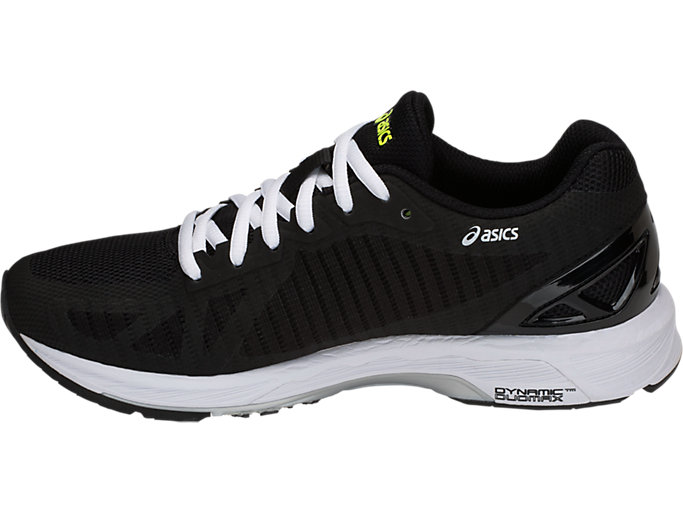 Left side view of GEL-DS TRAINER 23, BLACK/SILVER