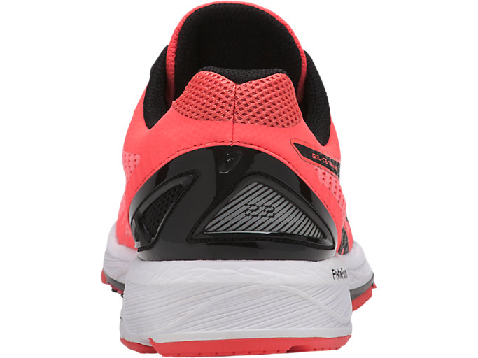 Back view of GEL-DS TRAINER 23, FLASH CORAL/BLACK/CORALICIOUS