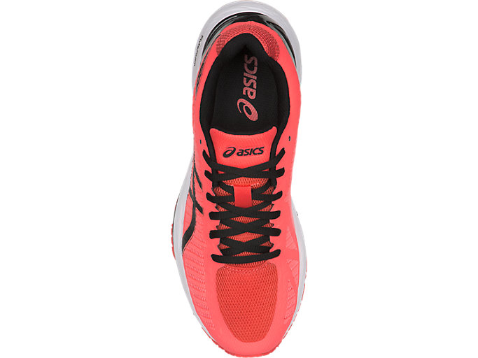Top view of GEL-DS TRAINER 23, FLASH CORAL/BLACK/CORALICIOUS