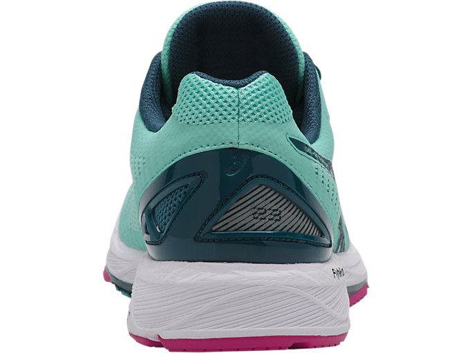 Back view of GEL-DS TRAINER 23, ARUBA BLUE/INK BLUE/FUCHSIA PURPLE