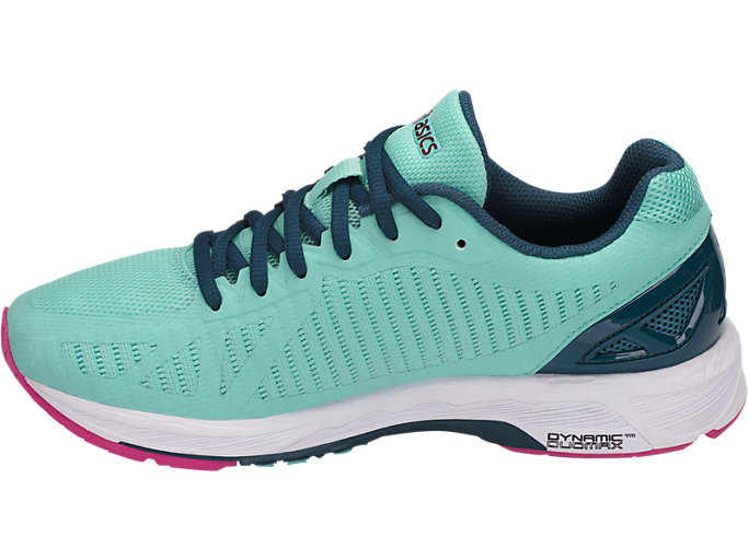 Left side view of GEL-DS TRAINER 23, ARUBA BLUE/INK BLUE/FUCHSIA PURPLE