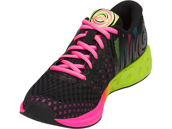 Front Left view of NOOSA FF 2, BLACK/HOT PINK