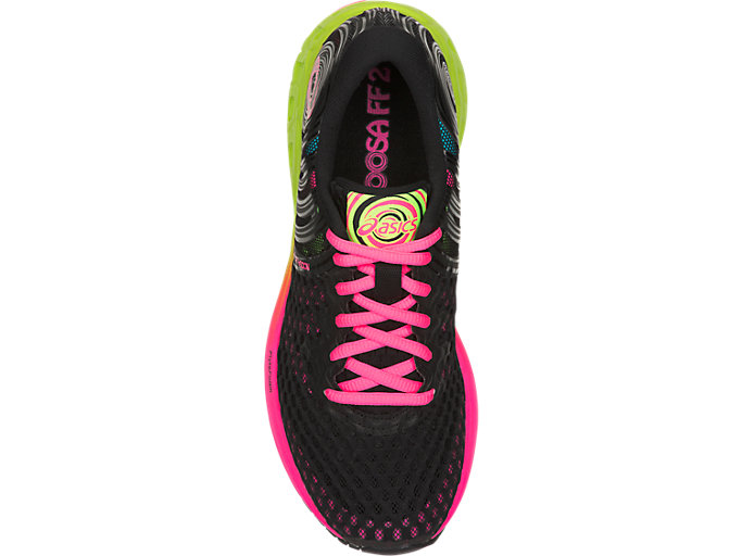 Top view of NOOSA FF 2, BLACK/HOT PINK