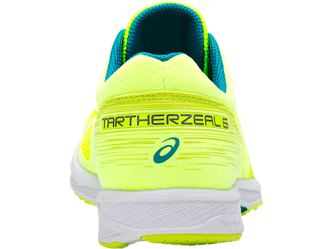 Back view of TARTHERZEAL 6, FLASH YELLOW/NEON LIME