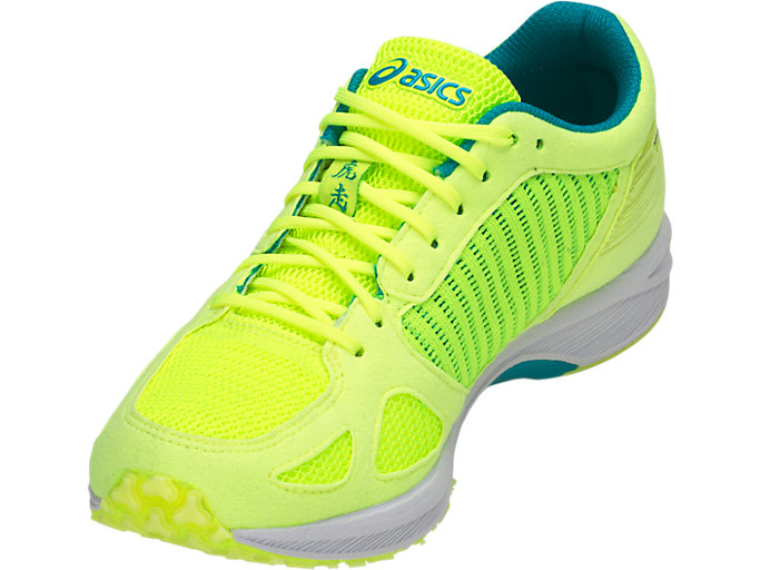 Front Left view of TARTHERZEAL 6, FLASH YELLOW/NEON LIME