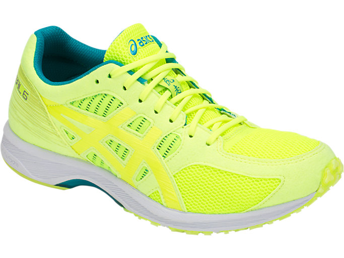 Front Right view of TARTHERZEAL 6, FLASH YELLOW/NEON LIME
