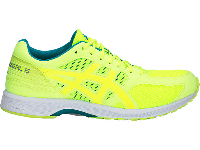 Right side view of TARTHERZEAL 6, FLASH YELLOW/NEON LIME