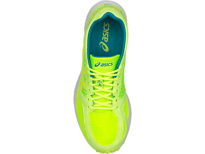 Top view of TARTHERZEAL 6, FLASH YELLOW/NEON LIME
