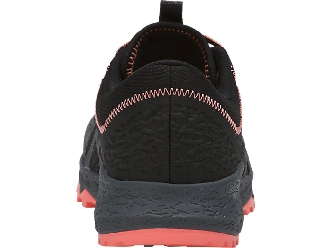 Back view of ALPINE XT, BLACK/CARBON/BEGONIA PINK