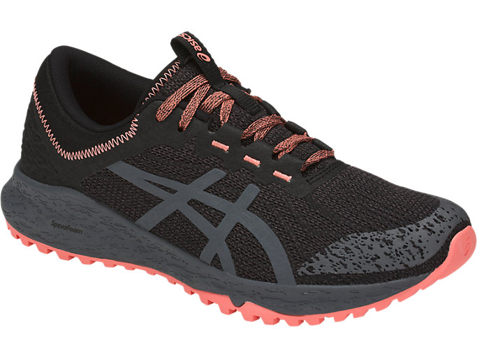 Front Right view of ALPINE XT, BLACK/CARBON/BEGONIA PINK