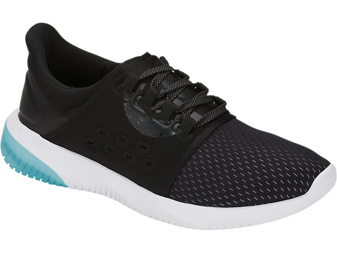 Front Right view of GEL-KENUN LYTE, BLACK/PHANTOM/LAKE BLUE