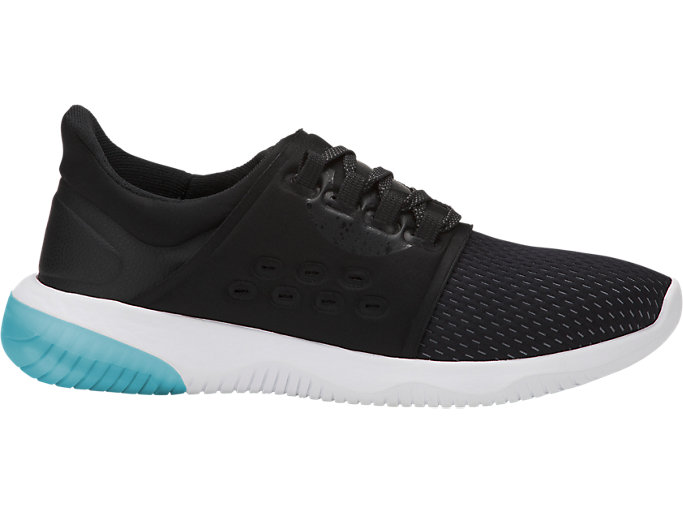 Right side view of GEL-KENUN LYTE, BLACK/PHANTOM/LAKE BLUE