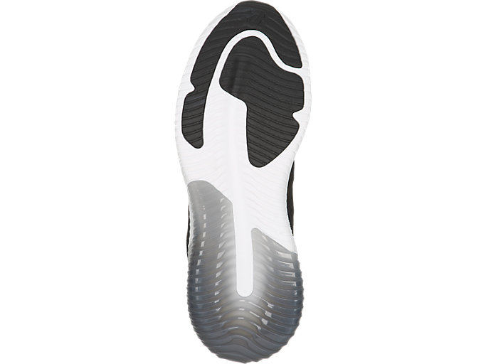 Bottom view of GEL-KENUN MX, BLACK/BLACK/WHITE