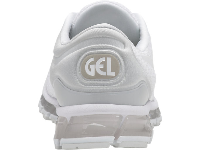 Back view of GEL-QUANTUM 360 KNIT 2, WHITE/WHITE