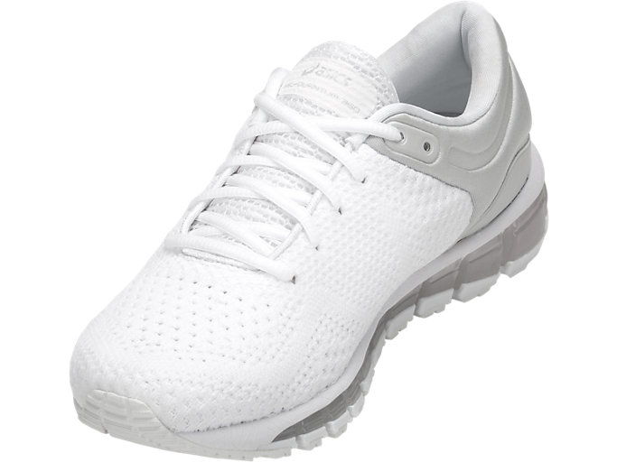 Front Left view of GEL-QUANTUM 360 KNIT 2, WHITE/WHITE