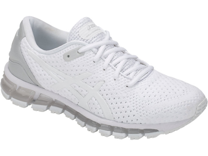 Front Right view of GEL-QUANTUM 360 KNIT 2, WHITE/WHITE