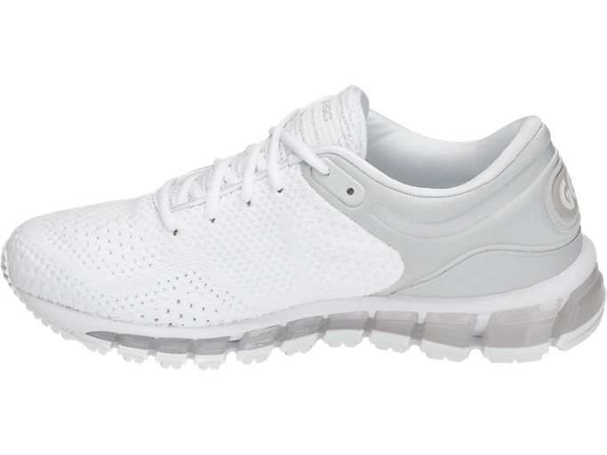 Left side view of GEL-QUANTUM 360 KNIT 2, WHITE/WHITE