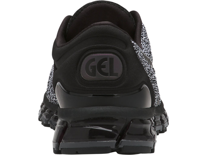 Back view of GEL-QUANTUM 360 KNIT 2, BLACK/WHITE/BLACK