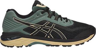 ASICS GT-2000 6 TRAIL PLASMAGUARD - Trail running shoes - black/black/dark forest