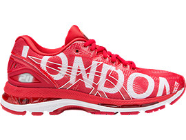GEL-NIMBUS 20 LONDON WOMENS, CLASSIC RED/CLASSIC RED/BLACK