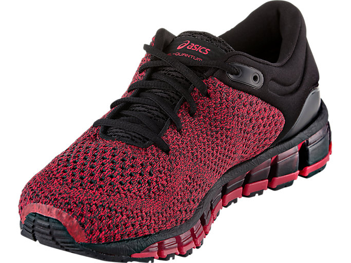 Front Left view of GEL-QUANTUM 360 KNIT 2, BLACK/SAMBA