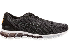 Right side view of GEL-QUANTUM 360 KNIT 2, BLACK/CARBON/PALE GOLD