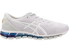 Right side view of GEL-QUANTUM 360 KNIT 2, GLACIER GREY/WHITE/PALE GOLD
