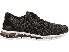 Right side view of GEL-QUANTUM 360 KNIT 2, BLACK/CARBON/SILVER