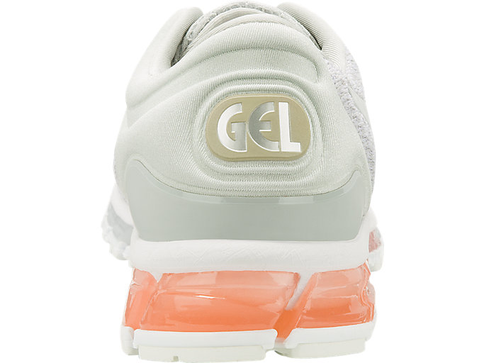 Back view of GEL-QUANTUM 360 KNIT 2, GLACIER GREY/SEASHELL PINK/WHITE