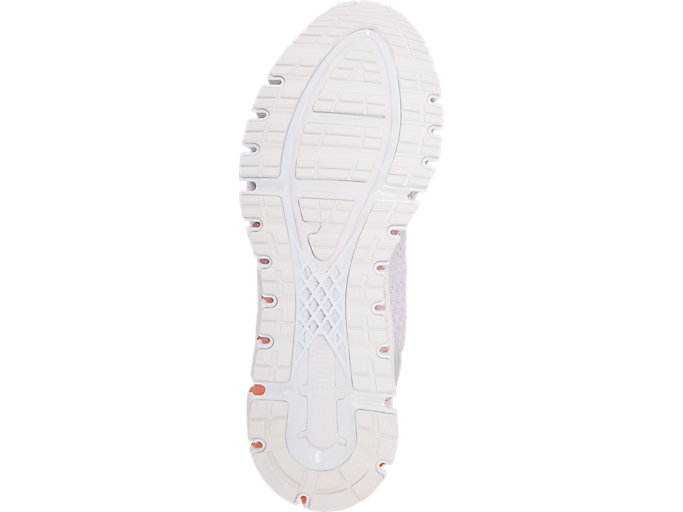Bottom view of GEL-QUANTUM 360 KNIT 2, GLACIER GREY/SEASHELL PINK/WHITE