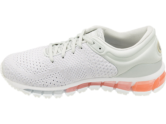 Left side view of GEL-QUANTUM 360 KNIT 2, GLACIER GREY/SEASHELL PINK/WHITE