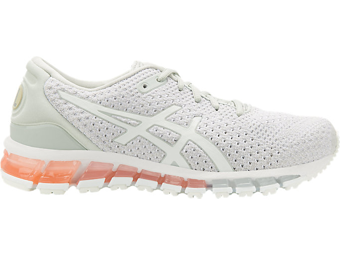 Right side view of GEL-QUANTUM 360 KNIT 2, GLACIER GREY/SEASHELL PINK/WHITE