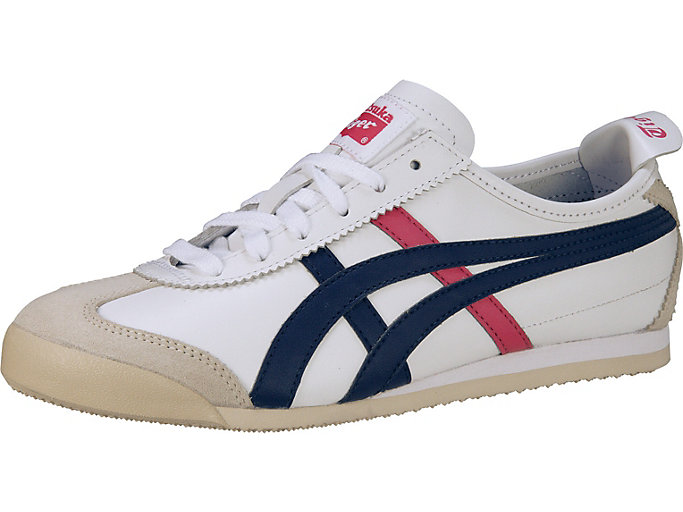 Front Right view of MEXICO 66, WHITE/NAVY/PINK