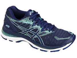 LADY GEL-NIMBUS 20-wide, DARK BLUE/DARK BLUE/BEGONIA PINK