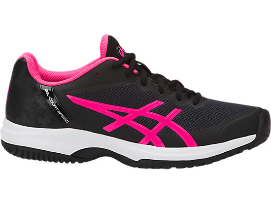 LADY GEL-COURT SPEED OC, BLACK/HOT PINK/CARBON