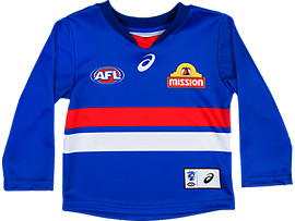 OFFICIAL WESTERN BULLDOGS LONG SLEEVED HOME GUERNSEY - INFANTS