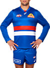 OFFICIAL WESTERN BULLDOGS LONG SLEEVED HOME GUERNSEY