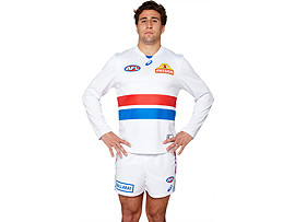 OFFICIAL WESTERN BULLDOGS LONG SLEEVED CLASH GUERNSEY