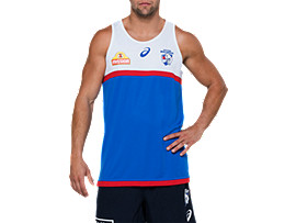 OFFICIAL WESTERN BULLDOGS TRAINING SINGLET (ROYAL)