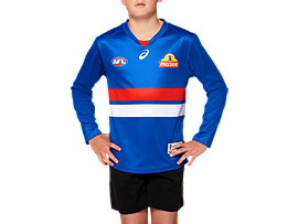 OFFICIAL WESTERN BULLDOGS LONG SLEEVED HOME GUERNSEY - YOUTH