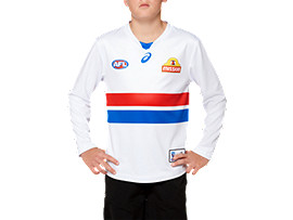 OFFICIAL WESTERN BULLDOGS LONG SLEEVED CLASH GUERNSEY - YOUTH