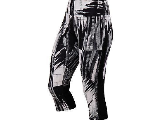 W Printed Capri Black White Glitch Print 3
