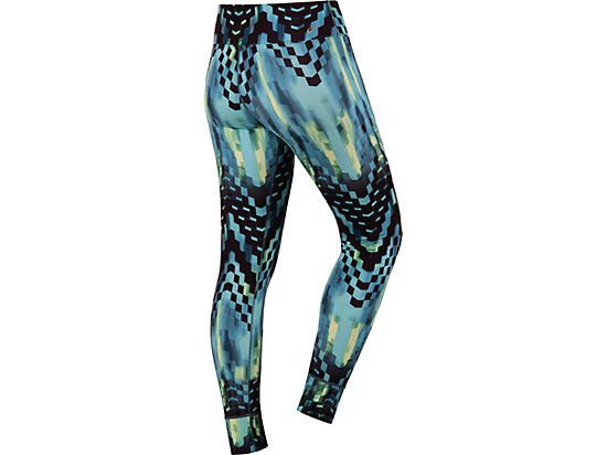 Printed Tight Turquoise Check Print 7