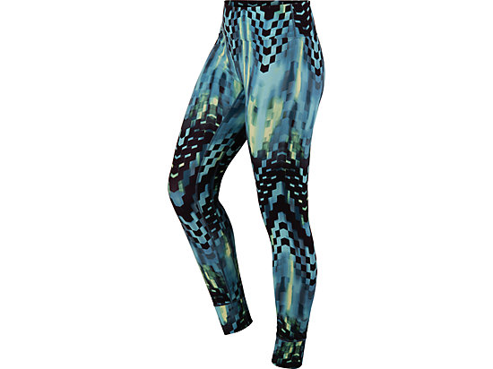 Printed Tight Turquoise Check Print 3