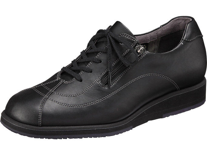 Front Left view of PEDALA WALKING SHOES 3E, ブラック
