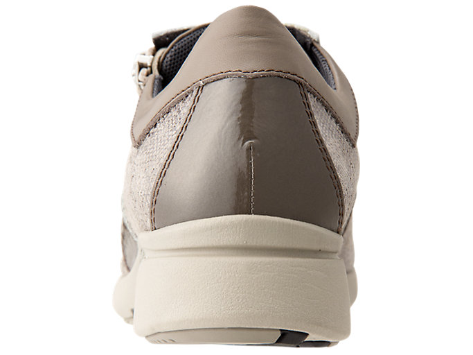 Back view of PEDALA WALKING SHOES 2E, TAUPE GREY