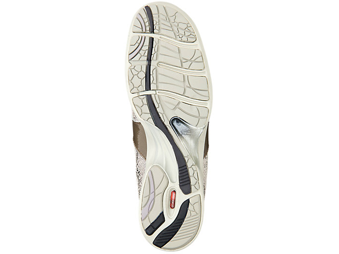 Bottom view of PEDALA WALKING SHOES 2E, TAUPE GREY